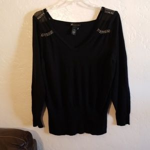 Lane Bryant Sweater Top With Beading 26/28